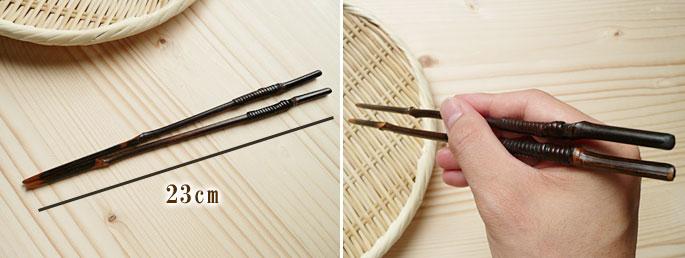 黒竹節つき箸:説明3