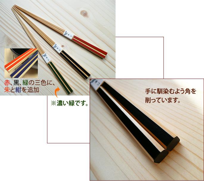 カラフル和風竹箸 かすり竹箸:説明3
