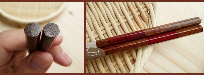 木製 市松箸:説明2