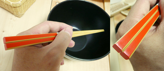 (竹箸)かすり竹箸(朱):説明2