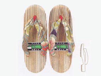 【竹皮草履・スリッパ】木製女性用健康サンダル51C-3067:説明1