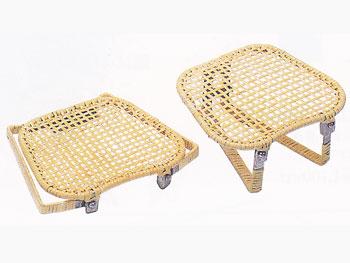 【雑貨・生活用品・健康グッズ】販売終了 籐正座椅子器(小)折りたたみ式イス/52A-3003:説明1
