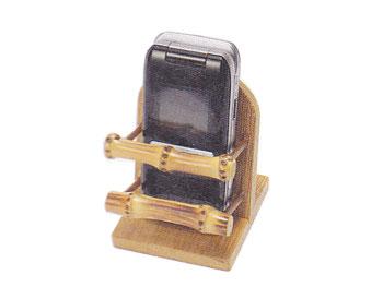 【雑貨・生活用品・健康グッズ】【廃盤】竹の和風携帯電話スタンド(スマートフォン/iPhone)/50B-3267:説明1