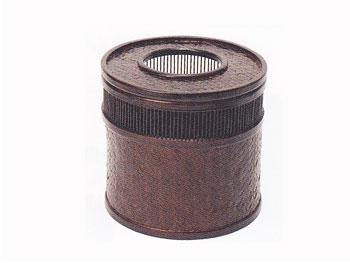 【雑貨・生活用品・健康グッズ】竹のゴミ箱(アジロ網屑かご)68B-5588:説明1