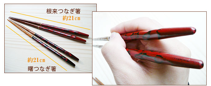 マイ箸(つなぎ箸)根来つなぎ箸(木製):説明3