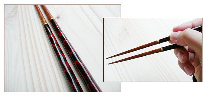 マイ箸(つなぎ箸)曙つなぎ箸(木製):説明2