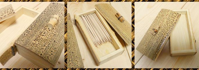 胡麻竹ふた付き爪楊枝入れ テーブル