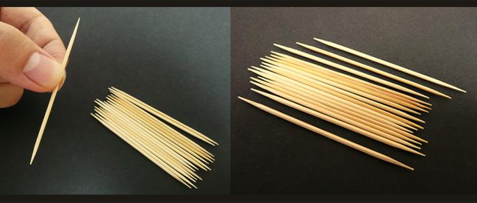 お試し用/ 竹の両細つまようじ100入り:説明2