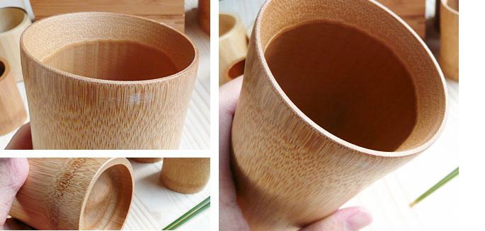 竹のビアマグ、コップ