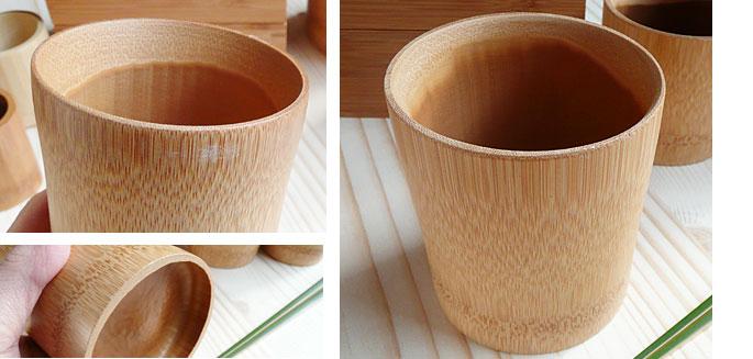和のキッチン雑貨(竹製コップ)アイス用スス竹コーヒーマグ:説明2