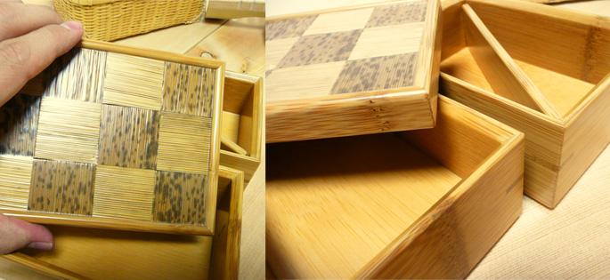 市松二段弁当箱(重箱) 蓋の模様 詳細:販売説明5