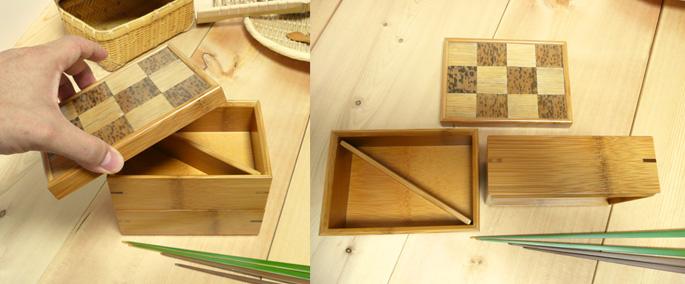 市松二段弁当箱(重箱) 二段の弁当箱の全体 詳細:販売説明4