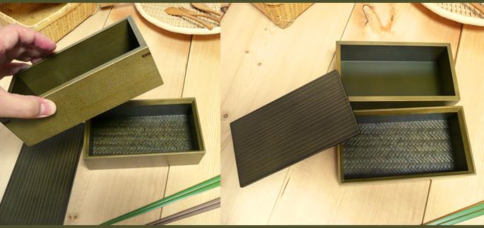神代色二段弁当箱(重箱 側面 詳細:販売説明3