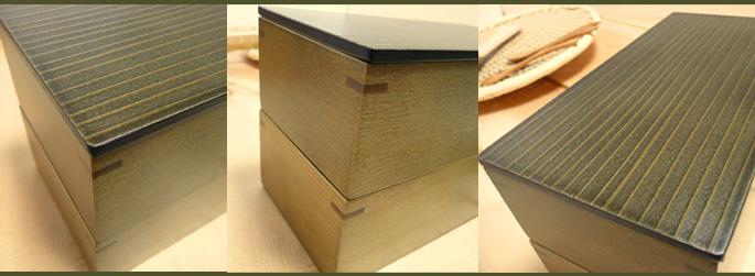 神代色二段弁当箱(重箱 蓋の模様 詳細:販売説明4