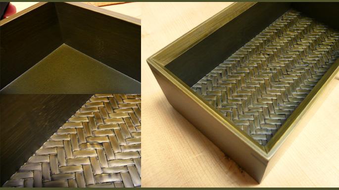 神代色二段弁当箱(中身の素材感 詳細:販売説明5