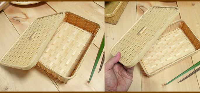 たたみ編み弁当箱(蓋と中身の素材感 詳細:販売説明3