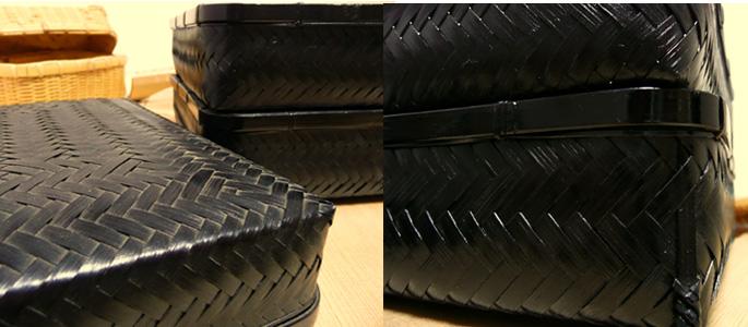 塗りアジロ二段弁当箱(高級重箱)(側面:販売説明3