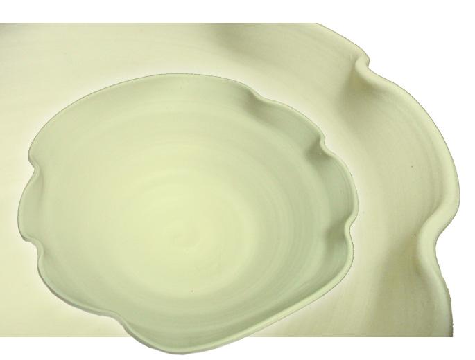 和食器/大鉢 さざ波・白 正面