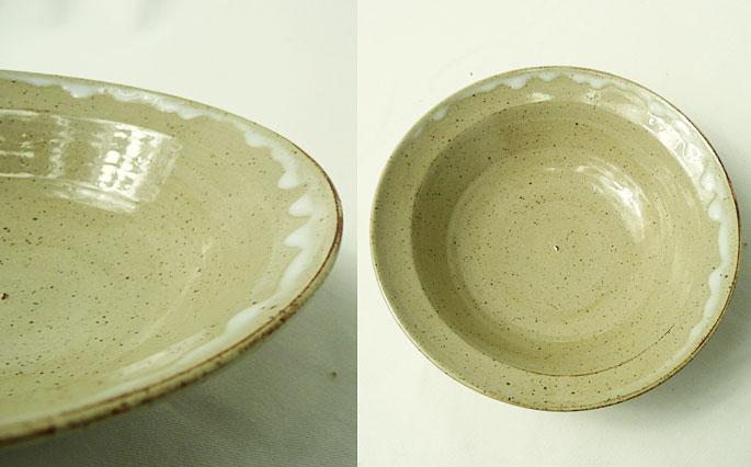 お惣菜や煮物の取り皿に/陶芸作家物 正面