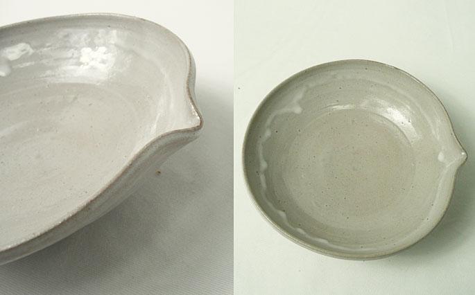 口つきのお惣菜や煮物の取り皿に/陶芸作家物 正面