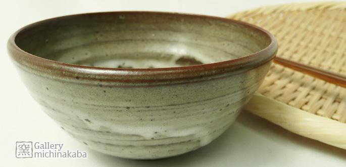 【ご飯お茶碗/碗】「作家物のお茶碗(あずき/釉だれ白)・小豆色」/ご飯茶碗/和食器:説明1