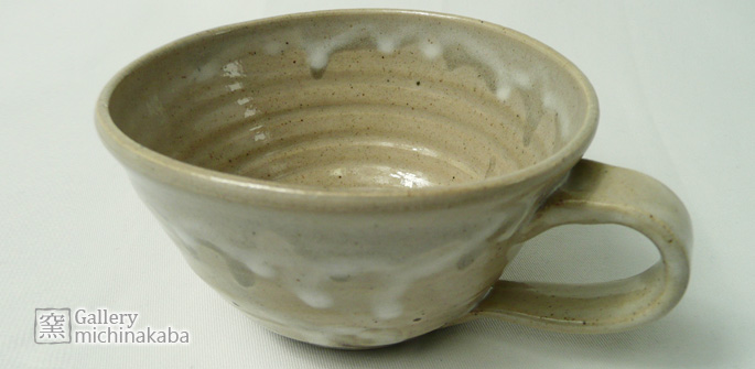 【スープ・コーヒーカップ/マグ/ティー】「スノードリップ・グレー」スープ・コーヒーカップ/ティー/作家物/おしゃれなカフェ食器販売:説明1