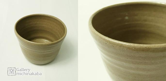 【ぐいのみ/湯呑/蕎麦ちょこ】「粘土ちょこ/シンプル・茶」湯呑/蕎麦ちょこ/作家物/暖かいお茶にも使えます。:説明1