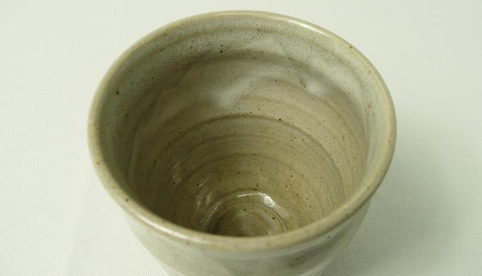 「釉だれちょこ/しぼり・グレー」お茶のコップ/業務用飲食店の食器通販